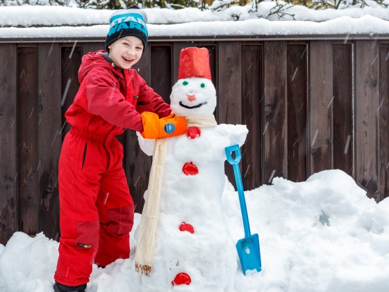 Silvester with his snowman